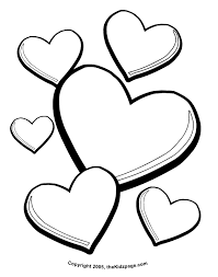 Small Picture Valentines Day Hearts Free Coloring Pages for Kids Printable