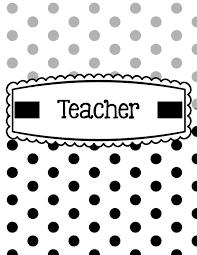 Editable Binder Cover Templates Free Black White Polka Dot Binder Covers Printable Editable Classroom