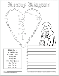 Coloring Pages Rosary Coloring Page How To Pray The By On Catholic