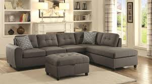 stonenesse grey fabric sectional sofa 7