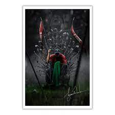 Tiger Woods The Goat Game Of Thrones signature poster