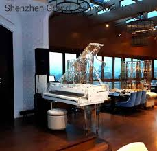 Acrylic Flooring Grand Designs Hot Item Music Instrument Luxury Hotel Acrylic Grand Piano Bar Grand 170 With Pianodisc Iq Player System