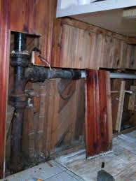 my old house replacing the drain pipe for the kitchen sink