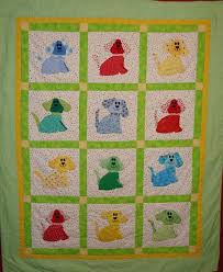Appliqué Quilting by Hand or Machine & Quilt with Colorful Dogs in Sqares Adamdwight.com