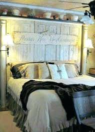 door headboard ideas made from old doors columns wooden rustic decorating awesome