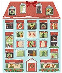 advent calander forest friends christmas house advent calendar galison quill and