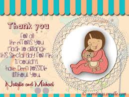 Thank You Messages For Baby Shower Messages And Gifts - Wordings And ...