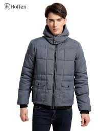 Hoffen Fashion Design Winter Men's Padding Jacket Coat With Hood ... & Hoffen Fashion Design Winter Men's Padding Jacket Coat With Hood Casual  Solid Quilted Jacket Male Parkas Adamdwight.com