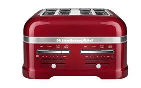 kitchenaid kmt4203ca candy apple red 4 slice pro line toaster