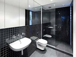 architecture bathroom toilet: small bathroom remodels in black theme with corner walk in shower made of transparent glass