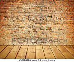 old brick wall and wooden floor
