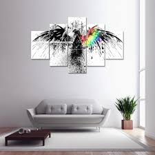 cheap 5 panel pink floyd a canvas print painting home decoration wall art picture on pink floyd wall decor with colormix 5 panel pink floyd a canvas print painting home decoration