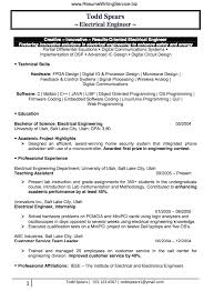 Electrical Engineering Resume Samples Find An Electrical Engineer Resume Sample Here