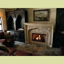 antique gas fireplace insert completed antique fireplace mantel installation with non vented gas insert in a customers home architectural artifacts oh