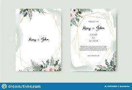 Black White And Pink Wedding Invitations Botanical