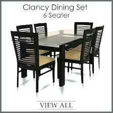 6 seater glass dining table sets 3 options from black and chairs