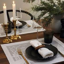 Designers Collection Placemats Delightful Placemats In Soft Grey With Two Iconic Fairy Tales