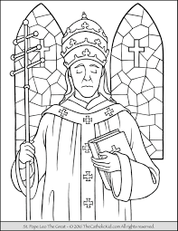 Saint Pope Leo The Great Coloring