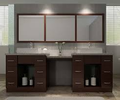 ariel bath roosevelt 97 double sink vanity set in walnut w makeup table
