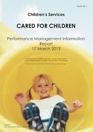 CARED FOR CHILDREN