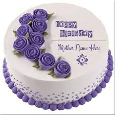 Write Your Name On Birthday Cake For Mother