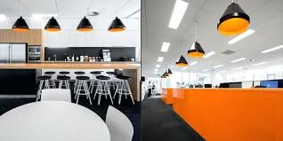 open ceiling lighting. Office Pendant Lighting Contemporary Open Design With And Recessed Ceiling Over Black L