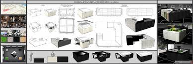 Институт архитектуры и дизайна Портфолио Дипломная работа Мебель для интерьерного салона