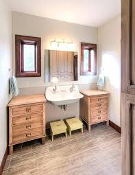farmhouse pedestal sink. Farmhouse Pedestal Sink Double Bathroom With Built Ins
