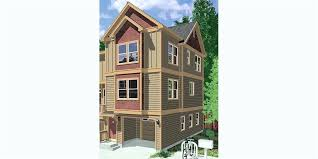 duplex house plans narrow lot 3 story townhouse with garage row d planswift