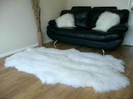 faux fur rug ikea sheepskin rugs simple living room with white and black