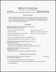 18 Academic Resume Template For Grad School Examples Best Resume