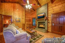 Log Cabin Living Room New Sevierville Cabins All In The Family