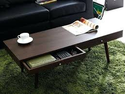 small coffee tables modern center table with 2 drawers walnut finish living room design rectangle wooden