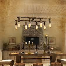 loft 8 light style lighting fixtures bar counter