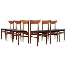 midcentury danish dining chairs by skovby møbelfabrik set of six