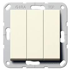 283003 – <b>Выключатель 3</b>-<b>клавишный</b> Gira SYSTEM 55, скрытый ...