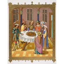 The Jews Passover Facsimile Of A Miniature From A Missel Of The Impressive Interior Design School Dc Painting