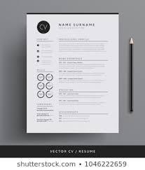 Professional Design Resume Cv Images Stock Photos Vectors Shutterstock