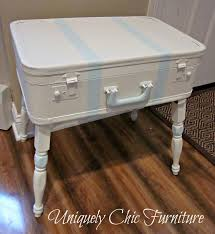 Suitcase Nightstand uniquely chic furniture vintage suitcase turned nightstand 1607 by guidejewelry.us