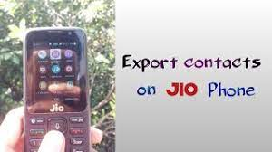how to export contacts on jio phone