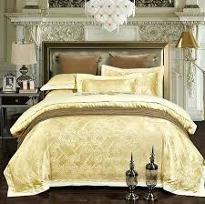 yellow bedspreads luxury bedding sets jacquard bedspreads gold yellow duvet cover set embroidered satin sheets bed in a yellow twin bed set