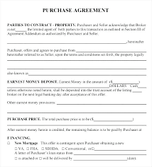 Real Estate Buy Sell Agreement Template Free Purchase Sales