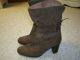 Clarks Brown Leather Slouch Fashion Ankle Boots Dress Shoes