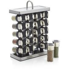 Crate & Barrel 20-Jar Stationary Spice Rack ($55)  liked on Polyvore  featuring home, kitchen & dining, food storage containers, spice carousel,  sp