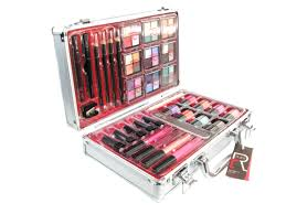 professional makeup vanity box india set eye shadow cosmetic palette white table mirror bench case