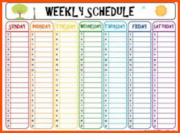 schedule weekly 9 printable weekly schedule survey template words