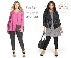 plus size legings and tops