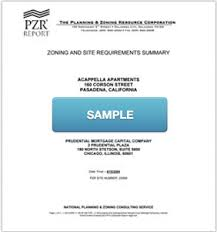 Pzr Zoning Reports Due Diligence