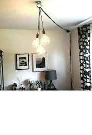 pendant light kit plug in dining room amusing minimalist triple hanging pendants plug pendant