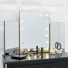 desk mirror with lights. Simple With Glass Glamour LED Light Dressing Table Vanity Make Up Tri Mirror Bathroom  Wall To Desk With Lights P